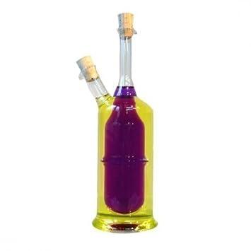 Essig öl Spender essig und öl flasche mit korken 2 in 1 flaschen menage essig öl