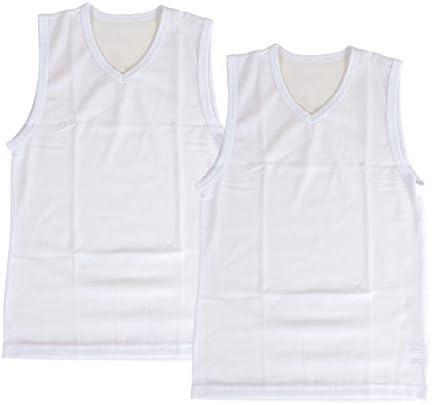時短革命 鹿の子編み 男児 V首サーフシャツ 2枚組 air229