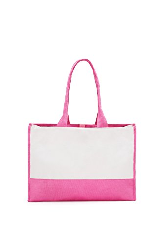 Tone Premium Bag Pink Tote Canvas White Hot Two and Hf1tnWqn