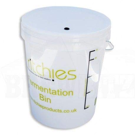 25 Litre Plastic Fermenter with Lid and Grommet