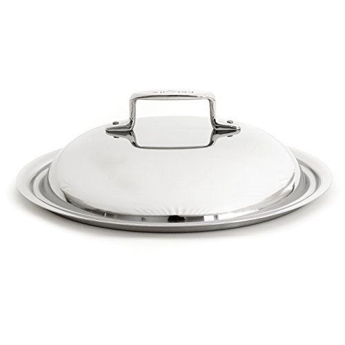 All-Clad D5 Brushed Stainless Steel Domed Lid for 11 Inch French Skillet or 5.5 Quart Dutch - 11 Skillet Stainless French