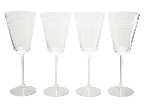 Kate Spade New York 6247522 Library Stripe Crystal Goblet,