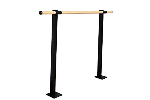 Vita Vibe Ballet Barre - SHS72-W - 6ft. Traditional Wood Single Fixed Height Floor Mount Ballet Bar - Stretch/Dance Bar - USA Made by Vita Vibe Floor Mount Ballet Barres