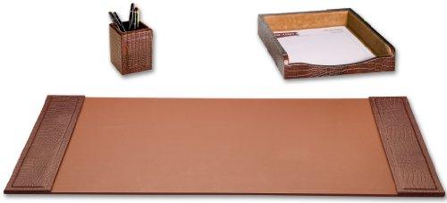 Leather 3 Piece Desk Accessory - 1