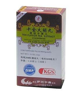 TEN extrait de thé FLAVOR (SHI QUAN DA BU WAN) 160mg x 200 comprimés par bouteille