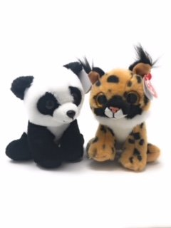Baby Lynx - TY beanie boos set of 2, Larry the lynx and Baboo the Panda