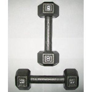8 lb. Hex Dumbbells (Pair)