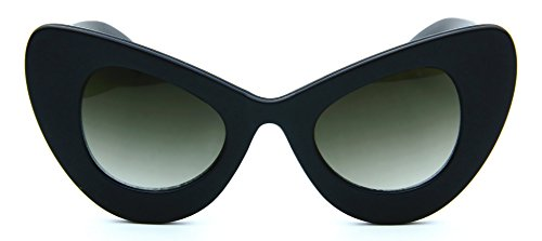 Extreme Cat Eye Sunglasses Retro Womens Oversized Huge Black - Cat Extreme Eye Sunglasses