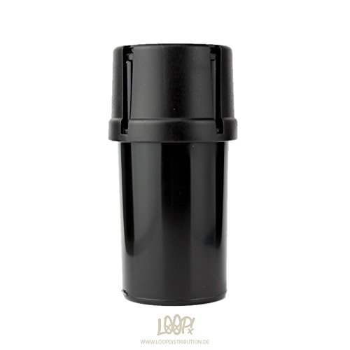 MedTainer Storage Container w/ Built-In Grinder - Black