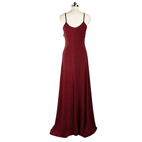 Sparkling YXB - Vestido - Noche - Sin mangas - para mujer rojo oscuro