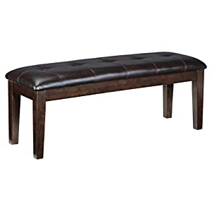 Signature Design by Ashley Haddigan Dining Room Bench, Dark Brown