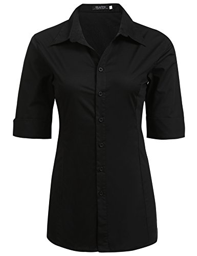 juniors black button down dress shirt - 9