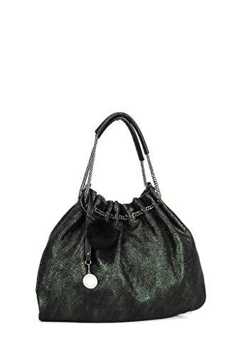 Shopper Moda Angkorly Brillantes Plata Borse Elegante Regalo Bandolera Pompom Flexible Bag Verde Mujer Compra Tote Girl Cabas Estudiante De Cadena Idea Working qrntwxUr4v