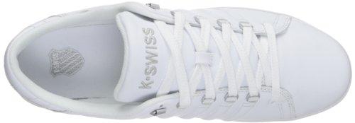 K-swiss Mens Lozan Iii Bianco / Bianco / Argento