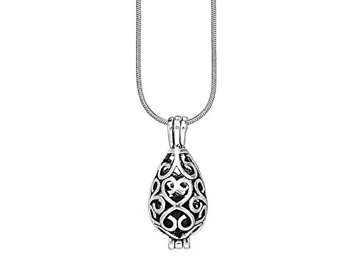 Open Filigree Heart Locket - 5