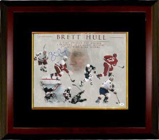 Brett Hull Autographed Signed Career Collage 16x20 Deluxe Framed Photo - Certified Authentic