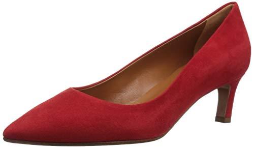 Aquatalia Women's Marianna Suede Pump, red, 6.5 M US