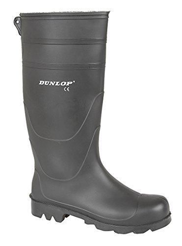 44 gomma Dunlop Black uomo Stivali Stivali IMPERMEABILE di Wellington Wellington znawvZAq