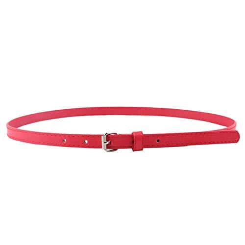 Cebbay Cinturon de Mujer Correa Delgada de la PU de Las Mujeres Elegantes de  la Moda 69facfa2531f