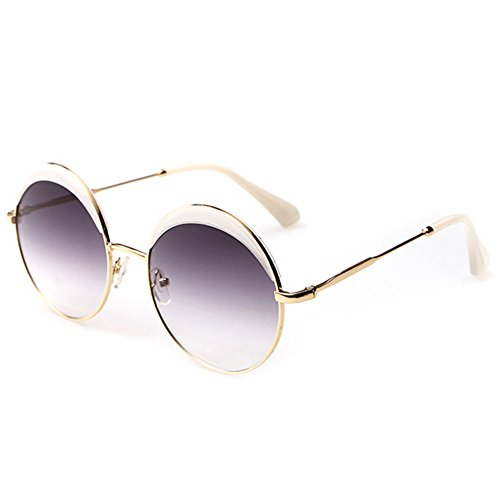 My.Monkey Fashion Retro Round Sunglasses with Polarized Lenses For Man And Women - Sunglasses Raybands