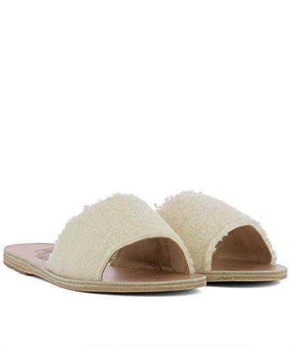 Ancient Greek Sandals Damen TAYGETEWHITE Weiss Wolle Sandalen
