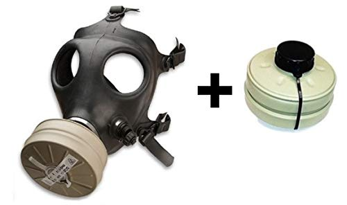 Acme Approved Israeli Rubber Respirator Mask NBC Protection for Industrial Use, Chemical Handling, Painting, Welding, Prepping, Emergency Preparedness + One Training Filter!!!