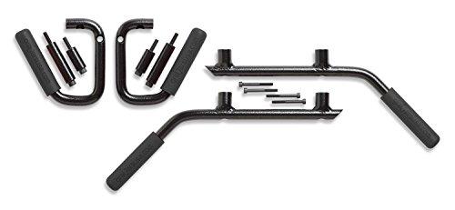 Genuine GraBarsUSA Solid Steel Handles for JK Wrangler 4-Door Front & Rear (BLACK 1005)