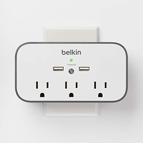 Belkin 3-Outlet Mount Surge with Dual USB Charging Ports