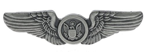 USAF Air Crew Wings Airline 1 1/4 inch pin pewter color H15445D144 Combat Aircrew Wings