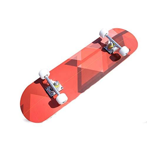 HBJB Skateboard a Quattro Ruote in Acero a Doppia Ruota Scheda di vitalità dedicata ai Bambini per Adulti ( Colore   F. )