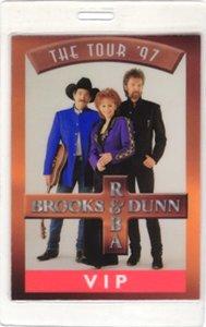 Brooks Dunn Reba McEntire 1997 Laminated Backstage Pass