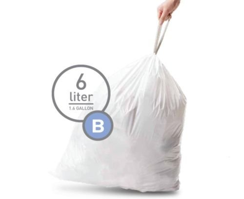 Simplehuman Bin Trash Can Bags Liners New 6l Litres Size B Box Pack of 30 (Simplehuman Trash Can 6 Liter)