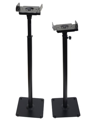 VideoSecu Black Heavy Duty Steel Speaker Stand for Surround