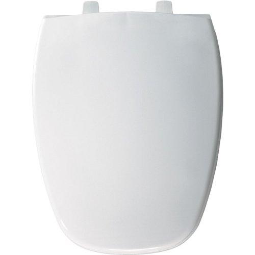 Bemis 1240205000 Eljer Emblem Plastic Elongated Toilet Seat, White