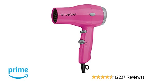Revlon 1875W Compact & Lightweight IONIC Hair Dryer, Pink