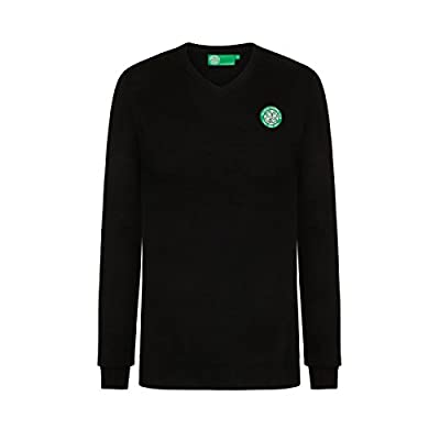 Celtic Football Club Official Soccer Gift Mens Crest Knitted V-Neck Jumper