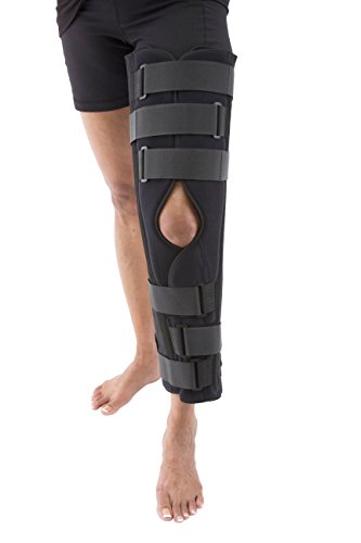 Tri-Panel Knee Immobilizer Brace – Rigid Support for Post Surgery – Universal 22″