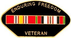 Operation Enduring Freedom Afghanistan War Veteran Lapel or Hat Pin (Hat Pins Veteran)