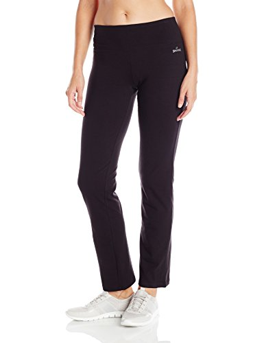 Spalding Women's Long Yoga Pant, Deep Black, Medium