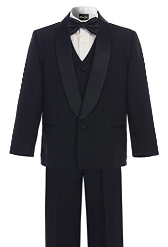 Lined Satin Suit - OLIVIA KOO Boy's Perfect Fit Classic Tuxedo Suit With No Tail