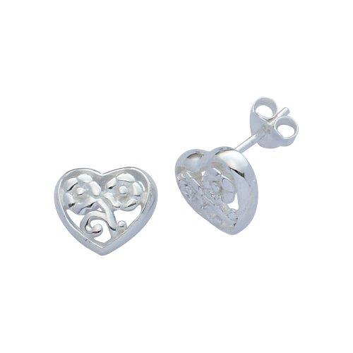 H. Gaventa Ltd - E - 11351 - Boucles d'oreille Femme - Coeur - Argent 2.8 Gr