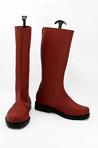 One Punch Man Anime Caped Baldy Saitama Cosplay Shoes Red Boots Custom Made IPD0T