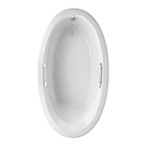 American Standard 2709048WCK2.020 Ellisse Oval EcoSilent Whirlpool, White by American Standard