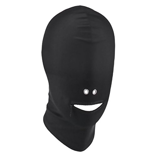 US Unisex Blindfold Face Cover Spandex Costume Hood Mask Open Eye Mouth Headgear