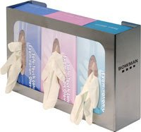 Bowman Medical Products GS-006 Glove Dispenser Triple SS Ea