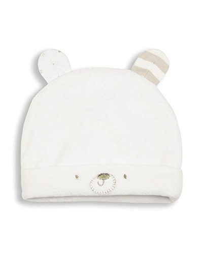 The Essential One Baby Velour Hat Newborn-3 Months White -