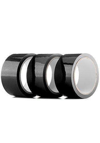 Ouch! - Bondage Tape - schwarz -  20 m lang - 5 cm breit (3 x 1 Stück)