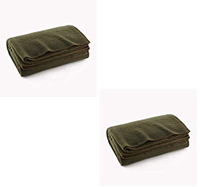 "Ever Ready First Aid Olive Drab Green Warm Wool Fire Retardent Blanket, 66"" x 90"" (80% Wool)-US Military from Ever Ready First Aid"