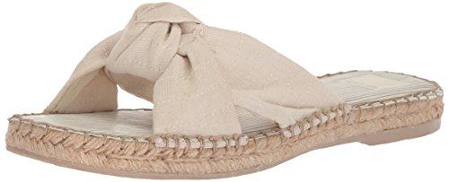Dolce Vita Womens Benicia Slide Sandal Off White Linen pe8EDZsS