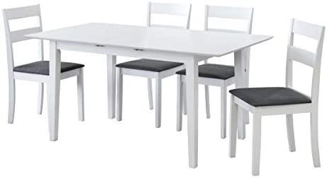 Mesa Comedor Extensible lacada Blanca 120(150) x80: Amazon.es: Hogar